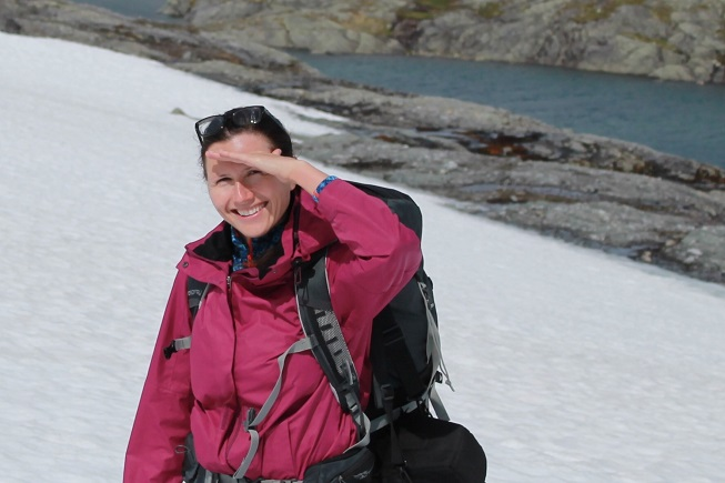 Svetlana Sorokina on the Hardangervidda mountain plateau.