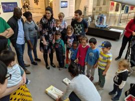 Children at the museum
