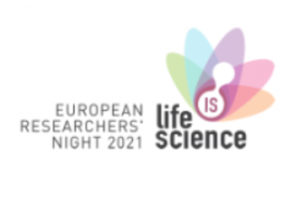 Life is Science; European Researchers' Night 2021 logo