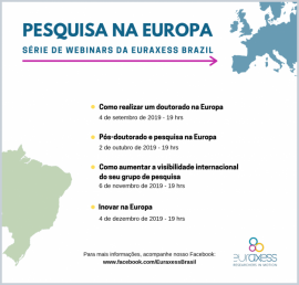 Image of (437651) Research in Europe - EURAXESS Brazil Webinar series