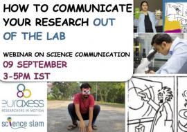 Image of (678182) Webinar: How to communicate your Research out of the Lab