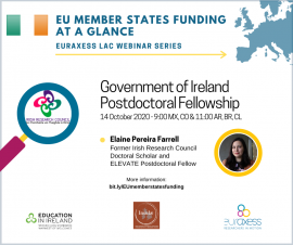 Image of (565401) Webinar - Government of Ireland Postdoctoral Fellowship Programme 2021 with EURAXESS LAC