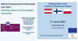 Image of (648979) Webinar: MSCA Postdoctoral Fellowship Call 2021 - Hosting offers from Europe - Part 2