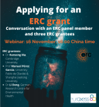 Image of (580851) Webinar on ERC Grants: Watch the Conversation with ERC Panel Member & Grantees