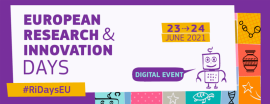 European Research & Innovation Days 2021 banner