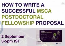 Image of (676109) Webinar: How to write a successful MSCA-Postdoctoral Fellowship Proposal