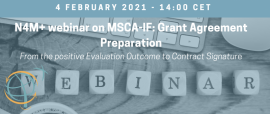 N4M+ Webinar on MSCA-IF: Grant Agreement Preparation